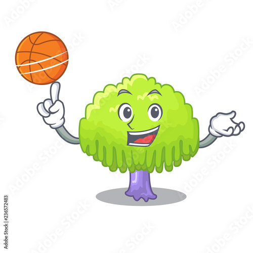 Fotografia, Obraz  With basketball isolated weeping willow on the mascot