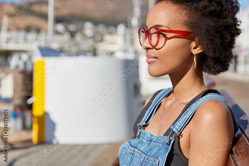673661028fa Shot of stylish teenage girl with Afro haircut