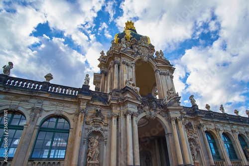 Fotografia  Zwinger art gallery and museum in Dresden, Saxony Germany
