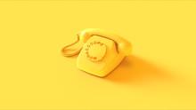 Yellow Telephone 3d Illustrati...