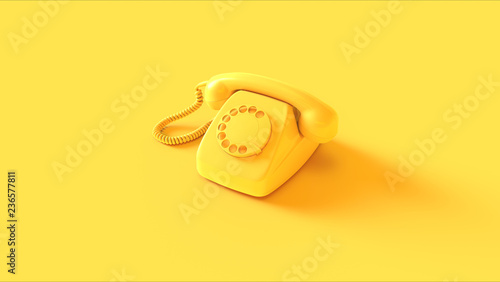 Fotografija Yellow Telephone 3d illustration 3d render