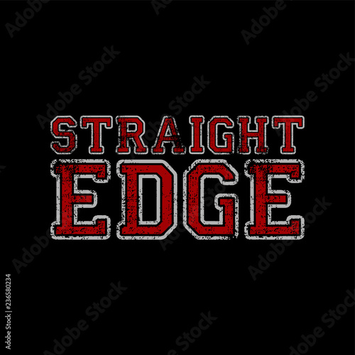 hardcore music straight edge movement Fototapet