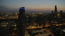 Aerial Illuminated View At Nig...