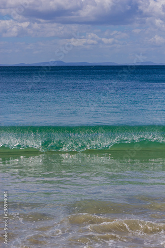 Photo Adventure Bay beach Bruny Island with Cape Raoul in background