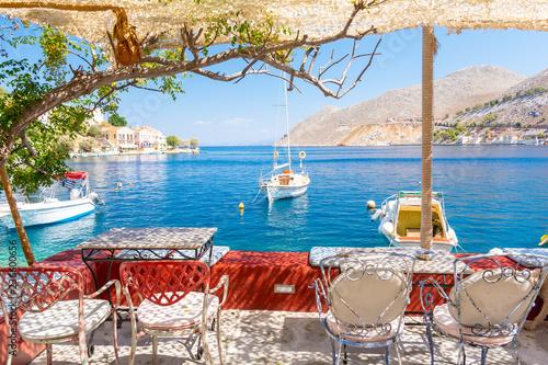 Fotografía  beautiful view on blue sea on Symi island in Greece