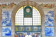 Railway Station Sao Bento In Porto, Portugal