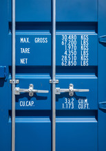 Blue Industrial Shipping Conta...