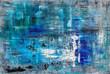 canvas print picture Struktur, Kunst, Modern Art, Blau