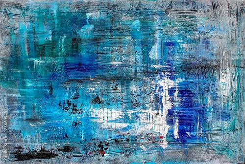 canvas print motiv - KatrinDreher : Struktur, Kunst, Modern Art, Blau