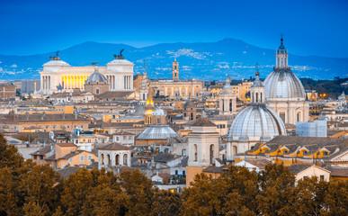 Fototapeta na wymiar View of Rome from Castel Sant'Angelo. Rome cityscape.