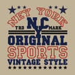 New York typography, t-shirt brooklyn, vintage graphic