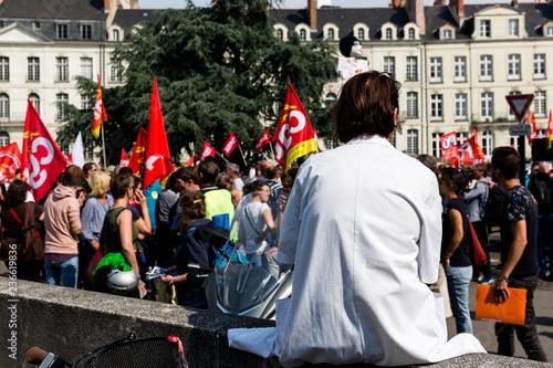 Photo  French demonstration