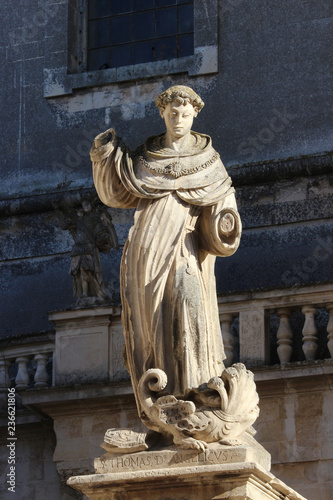 Statue of Saint Thomas Aquinas, with the hands cut off Canvas Print