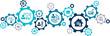 human resource management concept – modern hr aspects: vector illustration