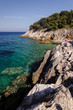 seaside in dalmatia, view of the seaside of mljiet island