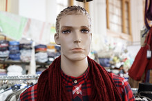 Male Mannequin In Plaid Shirt ...