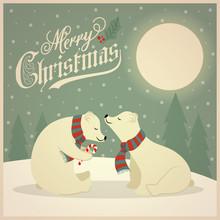 Beautiful Retro Christmas Card...