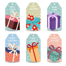 Christmas Labels Collection Wi...