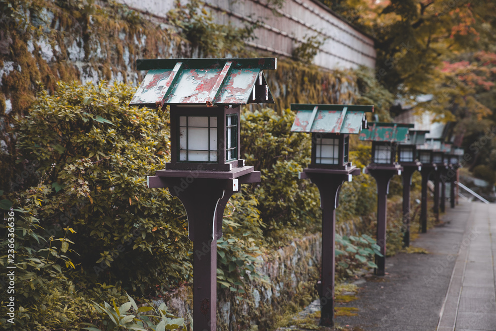 Photo Art Print Japanese Wooden Lantern In The Park Europosters