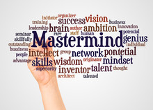 Mastermind Word Cloud And Hand...