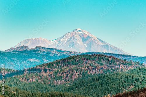 Spoed Foto op Canvas Turkoois Mt Shasta as seen fron East Road Northern California Nov. 10, 2018 _DSC1130