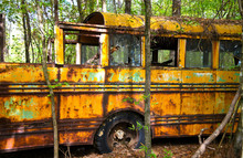 Old Scrap School Bus