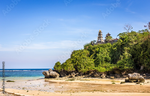 Deurstickers Asia land Pura temple on Geger beach on Bali island