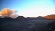 Delta river mud flows at sunrise Mt Bromo volcano eruption Java Indonesia