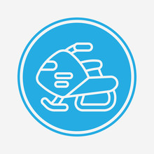 Snow Vehicle Vector Icon Sign ...