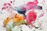 Abstrakcjonistyczna akwareli ręki farba. tło - 236657644