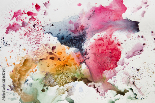 Obraz Abstract watercolor art hand paint. background - fototapety do salonu