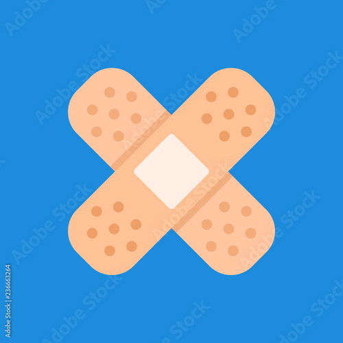 Foto Adhesive bandage, sticking plaster icon. Flat design. Vector icon