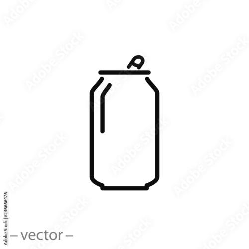 Cuadros en Lienzo Soda can icon vector