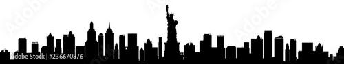Fototapeta New York city silhouette - stock vector obraz