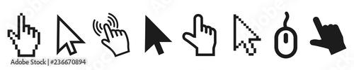 Fototapeta Set of flat modern cursor icons – vector