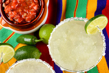 Margaritas And Salsa On A Colo...