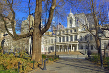 City Hall Building In City Hall Park, In Lower Manhattan, New York