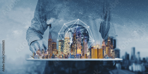 Photo Networking technology, augmented reality and smart city and technology
