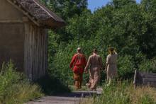 Vikings In Viking Clothing Wal...