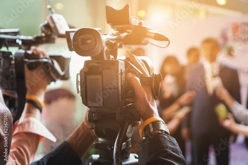 Vászonkép cameraman recording