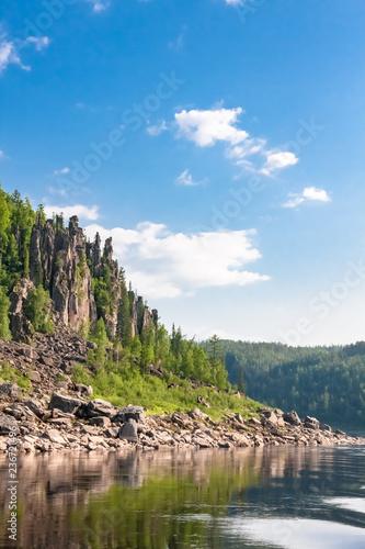 Fototapeta Big river of Eastern Siberia. Krasnoyarsk region. obraz