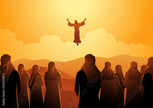 Photo The ascension of Jesus