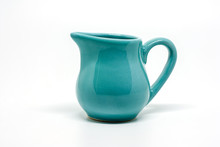Green Small Ceramic Pitcher On...