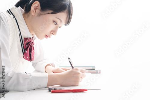 Fotografía  勉強する女子高生