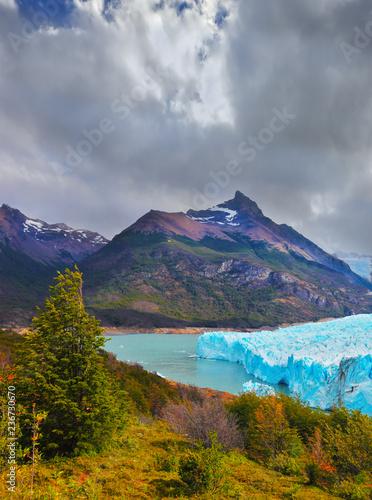 The glacier in Lake Argentino