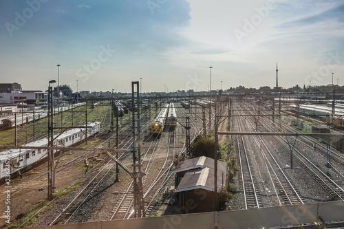 Fototapeta Bahnhofsbereich in Johannesburg obraz