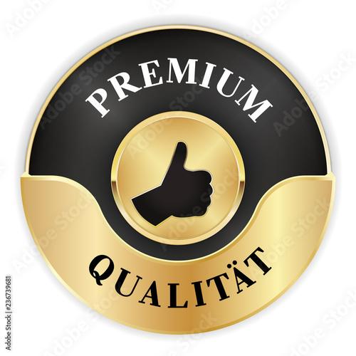 goldenes Siegel für eine Premium Qualität
