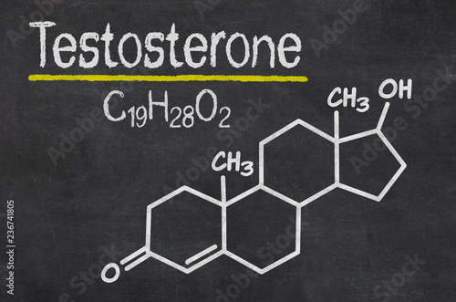 Blackboard with the chemical formula of testosterone Wallpaper Mural
