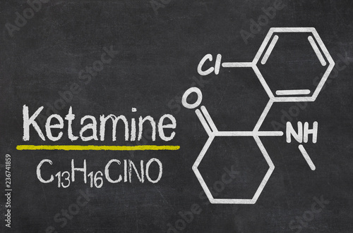 Blackboard with the chemical formula of Ketamine Canvas Print