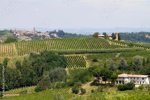 Tuinposter Lavendel Panorami del Monferrato